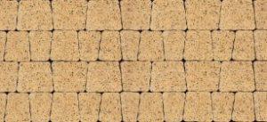 Kostka brukowa płukana Buszrem Kreta żółta