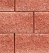 Bloczek oporowy łupany 390x150x240 czerwony