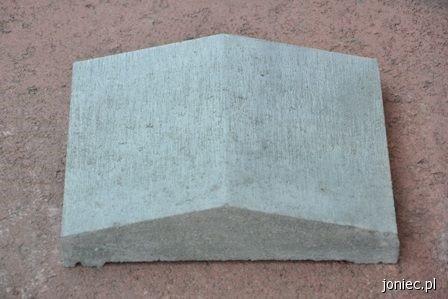 Daszek na słupek dwuspadowy biały
