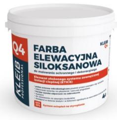 Farba elewacyjna siloksanowa Q4 Do malowania ochronnego i dekoracyjnego